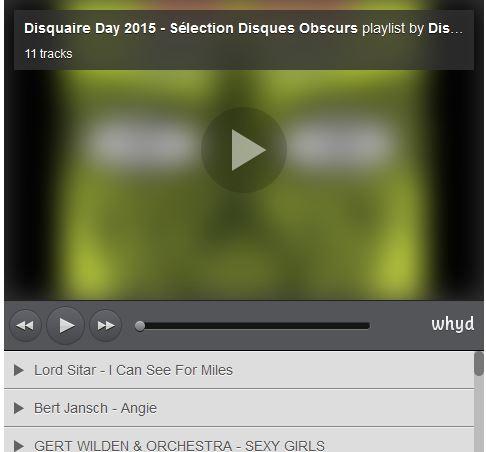 Playlist spéciale «Disquaire Day»
