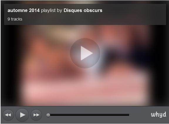 Playlist automne 2014